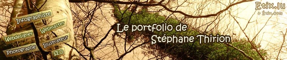 Banniére du portfolio de Stéphane Thirion étix infographiste