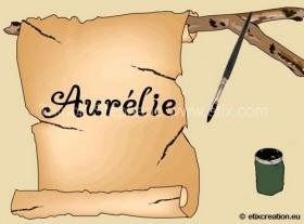 Animation Flash avec écriture en boucle Aurélie