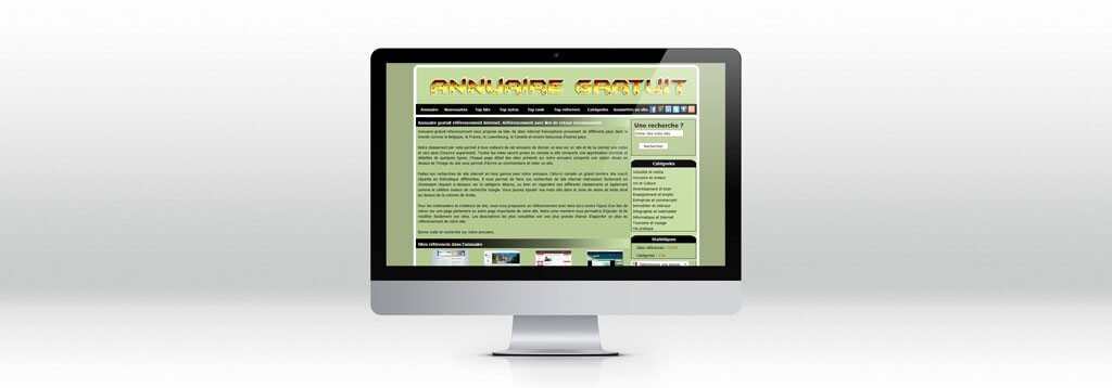Interface Annuaire gratuit refencement web-design