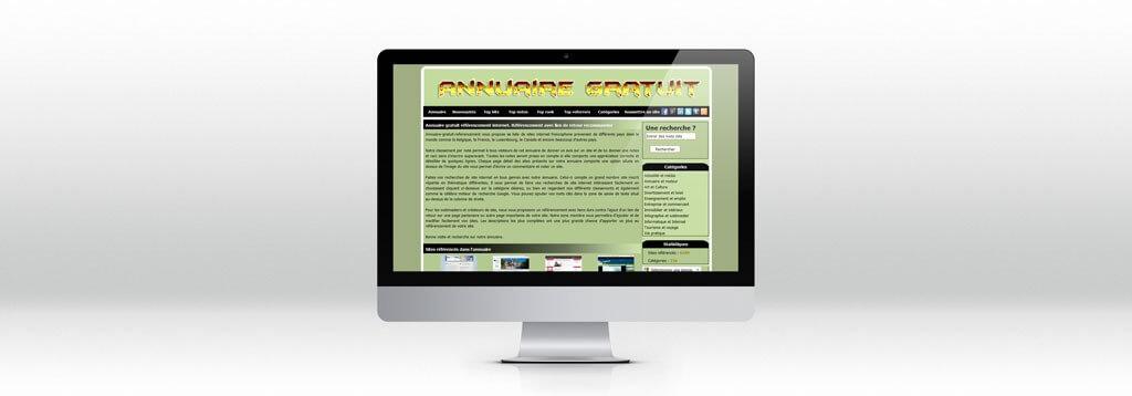 Interface Annuaire gratuit refencement web-design
