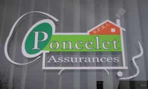 Vitrine Poncelet Assurances Saint-Léger