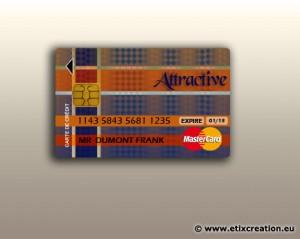 Attractive Cdiscount : une carte bancaire réalisé par Stéphane Thirion infographiste