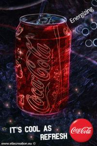 Publicité Coca Cola by Étix Stéphane Thirion infographiste, photographe en Belgique, Luxembourg