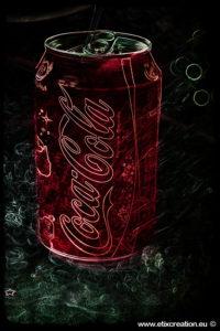 Retouche photo pour une publicité Coca Cola par Stéphane Thirion infographiste photographe à Virton en Gaume