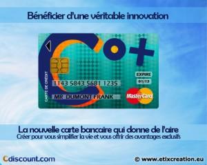 Co+ Cdiscount : une carte bancaire créer par Stéphane Thirion communicaction pour entreprise