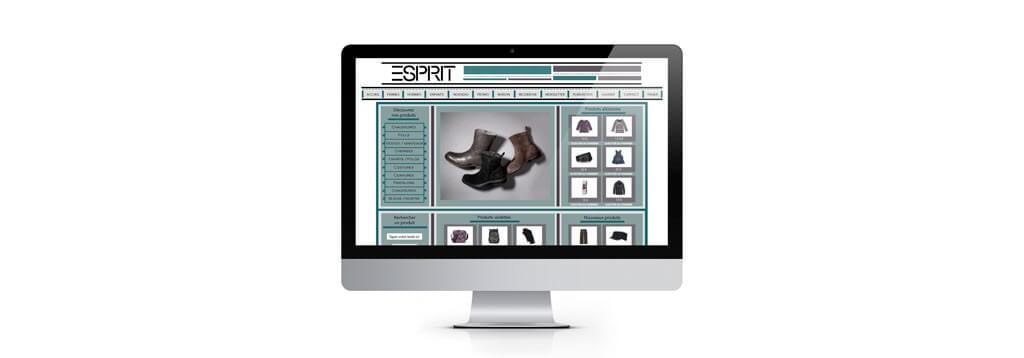 Exemple d'interface esprit web-design