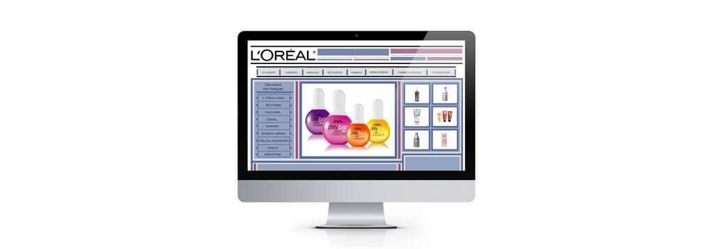 Exemple d'interface l'oreal web-design