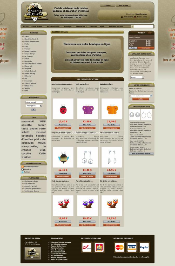 Galerie du Plaza Arlon liste de mariage en ligne, cadeaux, art de la table