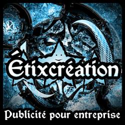 Bannière publicitaire : Étixcréation publicité pour entreprise