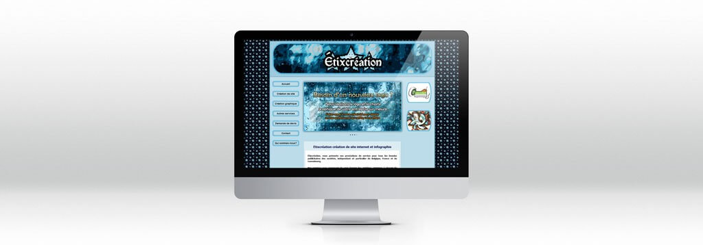 Inteface site web etixcreation web design