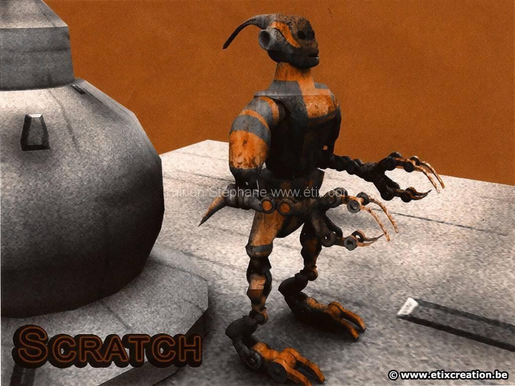 Conception graphique robot 3d et texture etix infographie