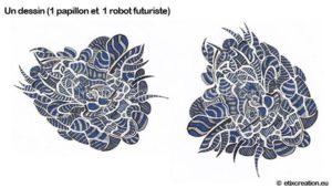 1 papillon 1 robot futuriste Stéphane Thirion