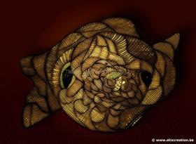 poisson-en-or-et-masque-alien-illustration-Stephane-Thirion