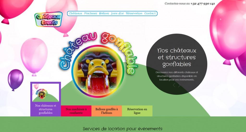 Vue d'écran Châteaux Events Virton Arlon Luxembourg
