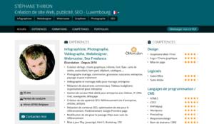 CV Stéphane Thirion Web designer webmaster seo photographe. Virton, Arlon, Luxembourg, Aubange, Musson, Habay, Florenville, Libramont, Neufchâteau, Saint-Léger
