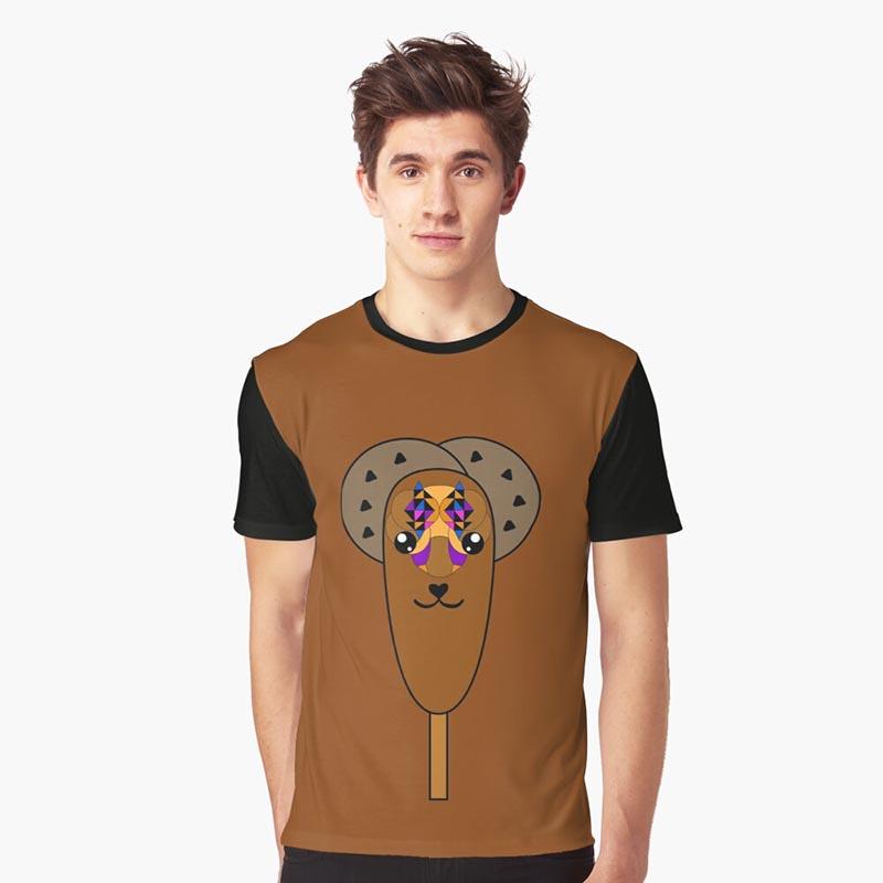 T-shirt glace chocolat kawaii