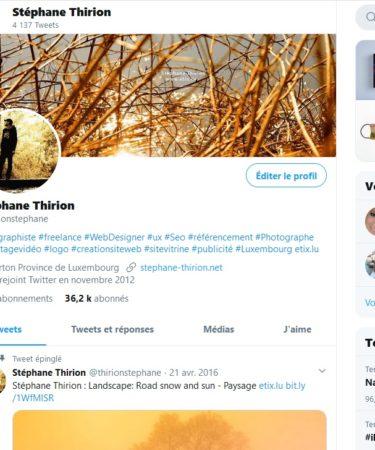 Twitter Stéphane Thirion SEO SEA SMO freelance