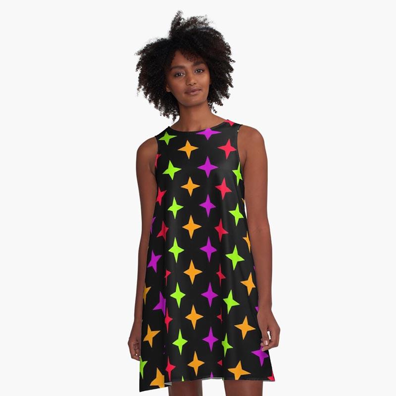 Vente robe motif étoile