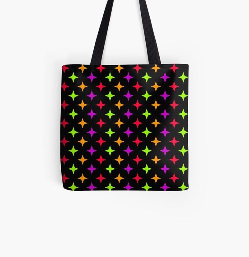 Vente sac étoile multicolore