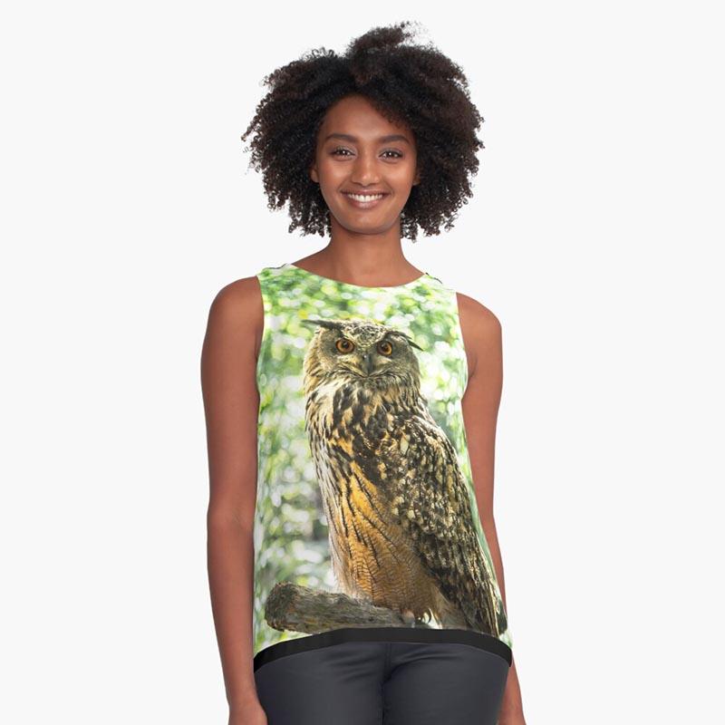 achat t-shirt hibou