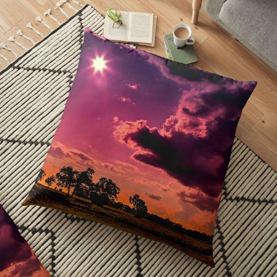 coucher de soleil et silhouette arbre