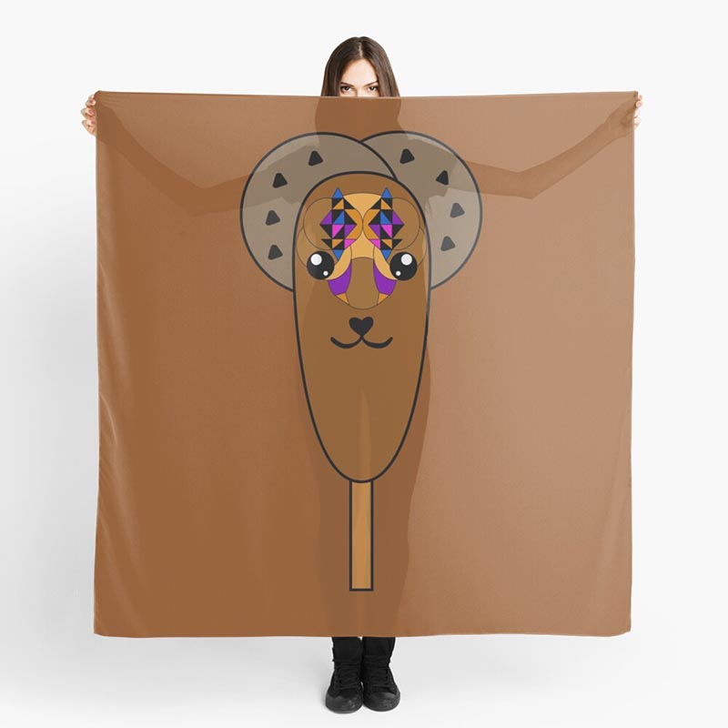 foulard glace chocolat