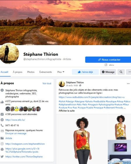 page Facebook Stéphane Thirion étix infographiste province Luxembourg