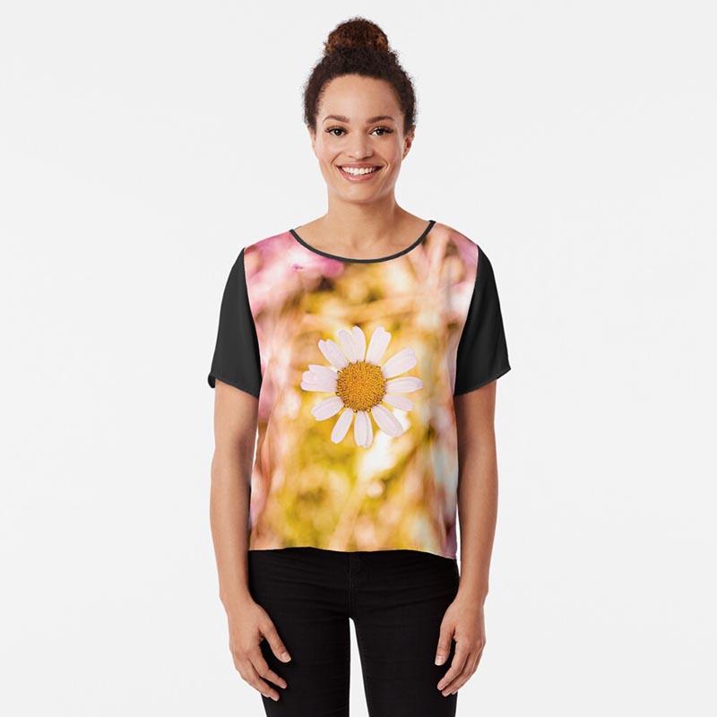 t-shirt femme marguerite