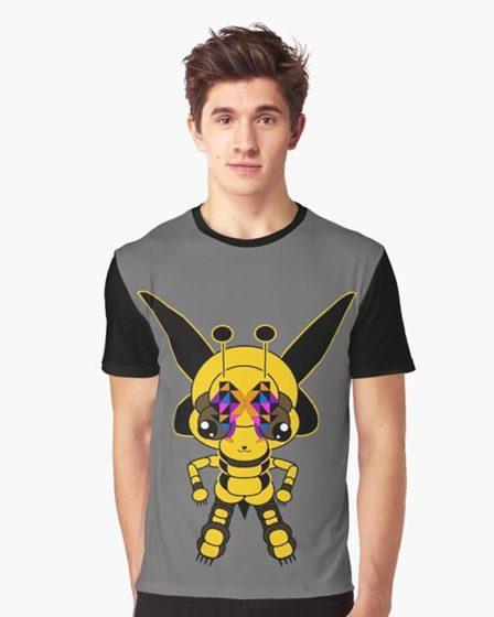 t-shirt guêpe
