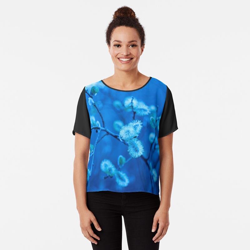 t-shirt nature bleu