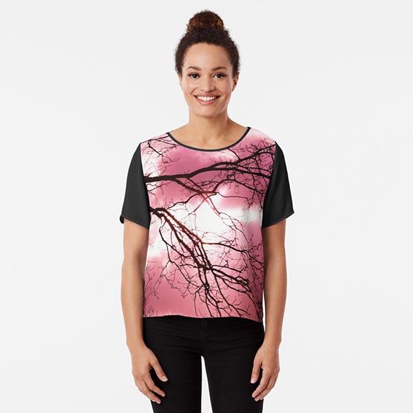 t-shirt silhouette arbre couleur